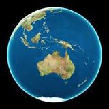 Austrália na terra do planeta Imagem de Stock