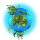 Austrália na terra do planeta Imagens de Stock Royalty Free