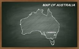 Austrália no quadro-negro Fotografia de Stock