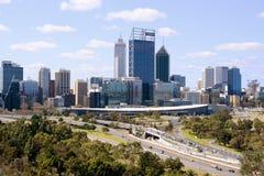 Austrália Ocidental das construções da cidade de Perth Fotos de Stock Royalty Free