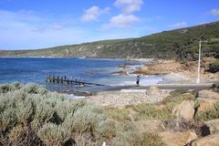 Austrália Ocidental de Yallingup da rampa do barco Imagens de Stock Royalty Free