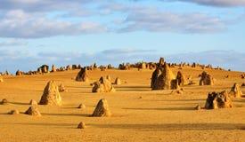 A Austrália Ocidental do deserto dos pináculos Imagens de Stock Royalty Free