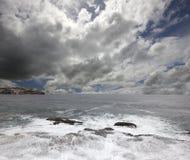 Austrália - praia do mar de Tasman Fotos de Stock Royalty Free