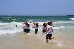 Austrália, Queensland: Escola para fora! Imagens de Stock