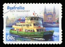 AUSTRÁLIA - selo postal fotografia de stock royalty free