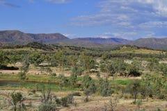 Austrália, Território do Norte, interior, rio de Finke imagens de stock