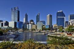Austrália, WA, Perth CBD fotos de stock royalty free