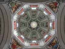Austria Salzburg Cathedral - Fresco Royalty Free Stock Photography