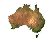Austrailia auf weißem Hintergrund lizenzfreie abbildung