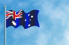 austrailian флаг Стоковая Фотография