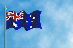 Austrailian Flag Stock Photography