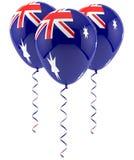 Austrailian flag balloon. Three Austrailian flag balloon isolated on white Stock Images