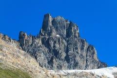 Austral Andes Cerro Castillo range. Austral Andes Cerro Castillo roky and snow mountain range in Chile stock photography