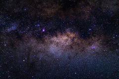 The austral Milky Way, with details of its colorful core, outstandingly bright. Captured from the Southern Hemisphere. The austral Milky Way, with details of royalty free stock images