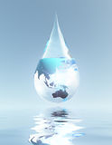 Australasia and Asia droplet Stock Photo