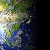 Australasia on realistic model of Earth Stock Image