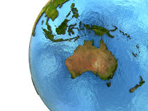 Australasian continent on Earth Stock Photos
