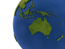 Australasian kontinent på jord vektor illustrationer