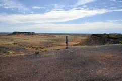 Australië, Coober Pedy, Breakaways-Vooruitzicht stock afbeelding