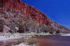 Australië: Cruise in Alice Springs River royalty-vrije stock afbeeldingen
