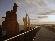 Australië: De herdenkingsbrug Newcastle van ANZAC Stock Foto's