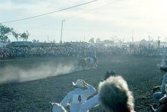 1976 australië N T, Darwin rodeo Royalty-vrije Stock Foto