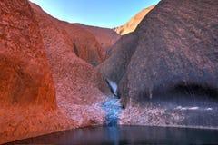 Australië, Noordelijk Grondgebied, Ayers-Rots, Uluru stock foto