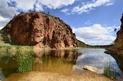 Australië, Noordelijk Grondgebied, Binnenland, Glen Helen stock afbeeldingen