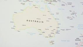 Australië op een Kaart stock video