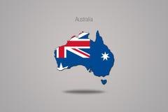 Australië op grijze achtergrond wordt geïsoleerd die Royalty-vrije Stock Foto
