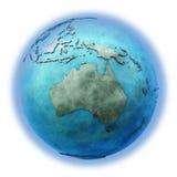 Australië op marmeren aarde Royalty-vrije Stock Foto