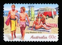 AUSTRALIË - postzegel royalty-vrije stock foto
