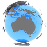 Australië ter wereld Stock Afbeeldingen