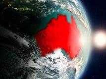Australië tijdens zonsopgang Stock Fotografie