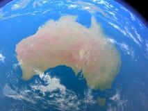 Australië van Ruimte Royalty-vrije Stock Foto