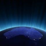 Australië van ruimte Royalty-vrije Stock Afbeelding