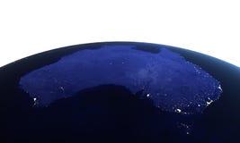 Australië van ruimte op wit Royalty-vrije Stock Afbeelding