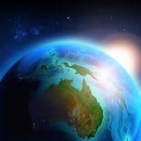 Australië van ruimte wordt gezien die stock illustratie