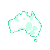 Australië zoals groen continent royalty-vrije illustratie