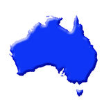 Australia. Blue map Australia on white background