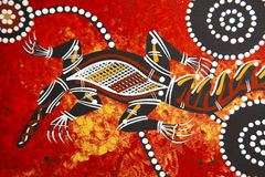 Australia. Aboriginal style design with boomerang