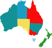 Australia. Vector map of australia counties