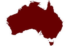 Australia. Map of Commonwealth of Australia Stock Photography