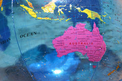 Australia. Pink Australia on a blue ballon Royalty Free Stock Image