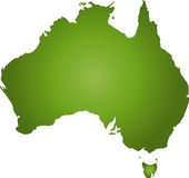 Australia. The continent of australia royalty free illustration