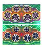 Australia Aboriginal art vector background. Set of Australia Aboriginal art vector backgrounds stock illustration