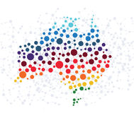 Australia abstract background with dot connection. On white stock illustration