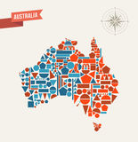 Australia abstract map Stock Photo