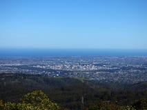 Australia, Adelaide, widok miasto od Adelaide wzgórzy zdjęcia stock
