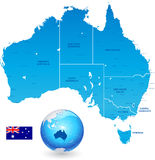 Australia Administrative Map Set Royalty Free Stock Photography